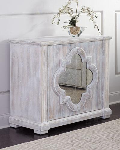 Quatrefoil 2-Door Cabinet