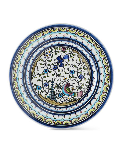 Pavoes Blue and Green Salad Plates, Set of 4
