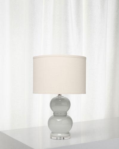 Bubble Ceramic Table Lamp, Grey Violet