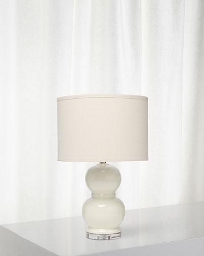 Bubble Ceramic Table Lamp, Winter White