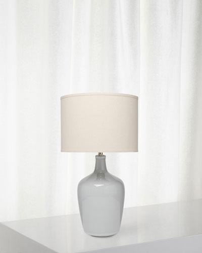 Plum Jar Table Lamp, Gray Violet