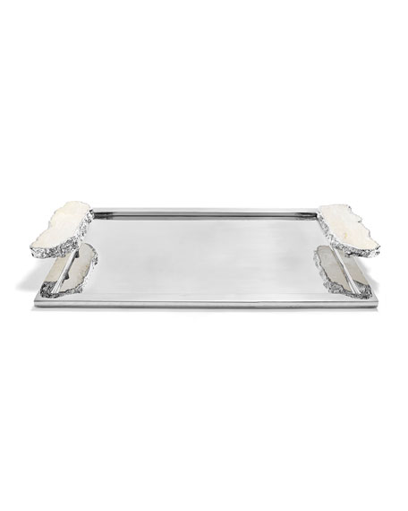 ANNA New York Large Heritage Tray with Crystal Handles