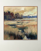 Golden Ribbons Wall Art on Canvas