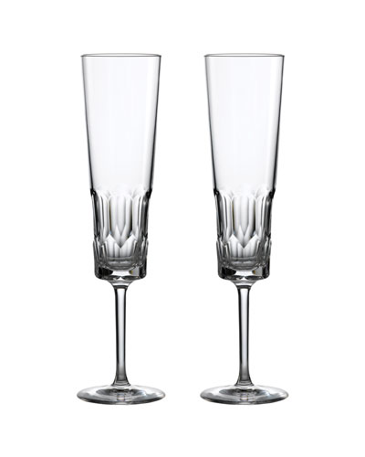 Jeff Leathan Icon Champagne Flutes, Set of 2 - Clear