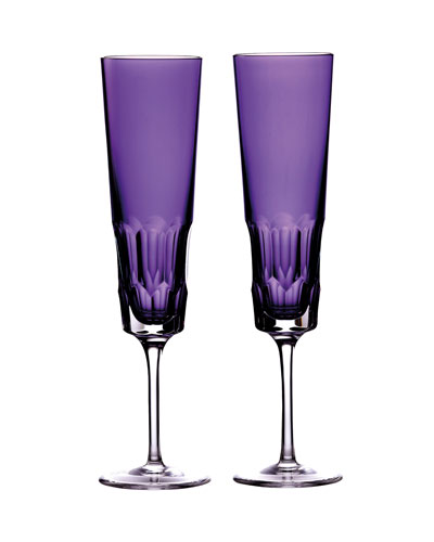 Jeff Leathan Icon Champagne Flutes, Set of 2 - Amethyst
