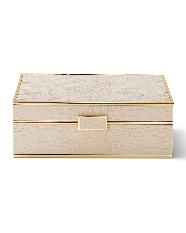 Aerin CLASSIC CROC LARGE JEWELRY BOX