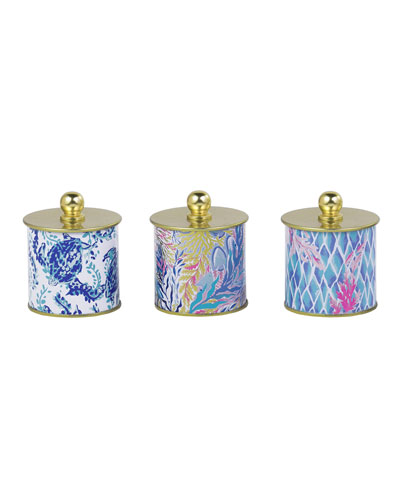 Kaleidoscope Coral Votive Candle Set