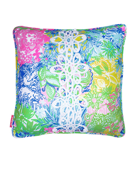 Lilly Pulitzer Cheek to Cheek Large Pillow