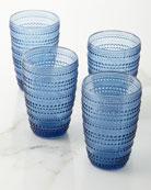 Godinger Lumina Blue Highball Glasses, Set of 4