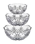 Godinger Dublin Bowls, Set of 3