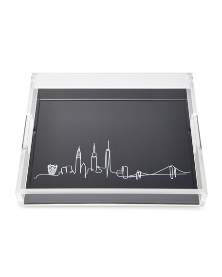 JR William Line Drawing Skyline Large Tray