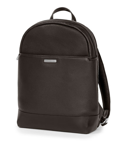 Leather Round Top Backpack