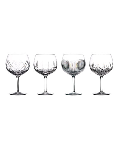Gin Journey Assorted Balloon Glasses, Set of 4
