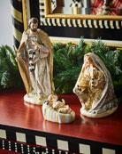 MacKenzie-Childs Silver Lining Holy Family Nativity Figurines,
