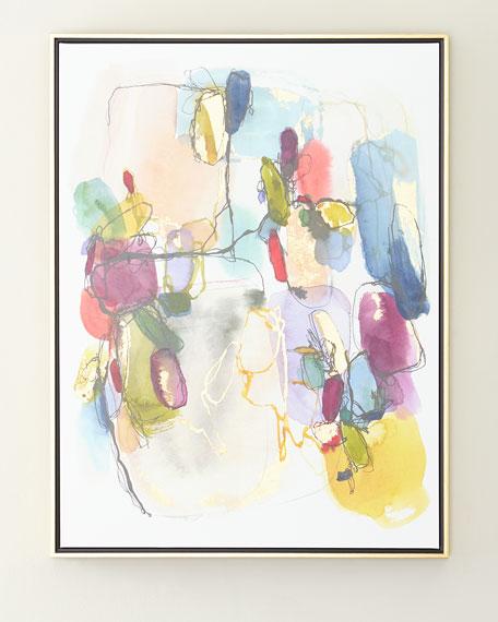 """Sparkling Hearts II"" Giclee Wall Art"