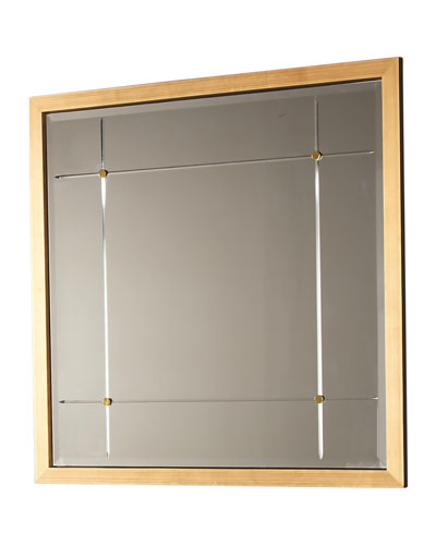 Beaumont Square Gold Leaf Mirror