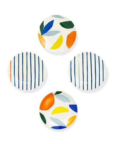 citrus twist tidbit plates, set of 4