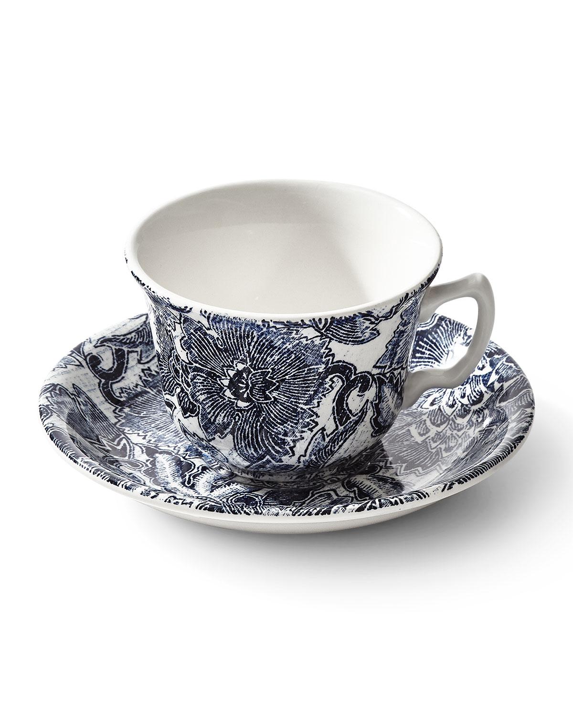 Ralph Lauren Home BURLEIGH FADED PEONY TEA CUP & SAUCER