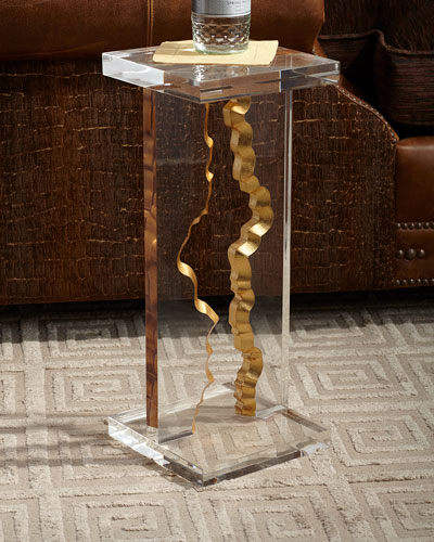 Gold Landscape Martini Table