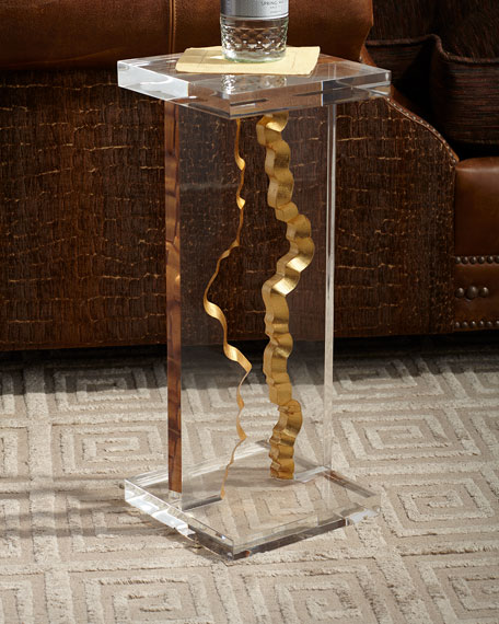 John-Richard Collection Gold Landscape Martini Table