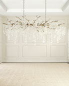 John-Richard Collection Shiro Noda 15-Light Glass Chandelier
