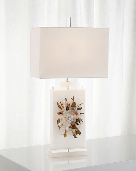 John-Richard Collection Profusion Of Crystal Alabaster Table Lamp