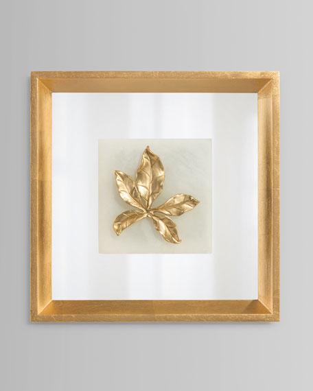 John-Richard Collection Mountain Laurel Leaf on Alabaster