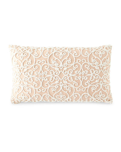 Serafim Rose Damask Pillow