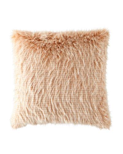 Blustery Faux-Fur Pillow