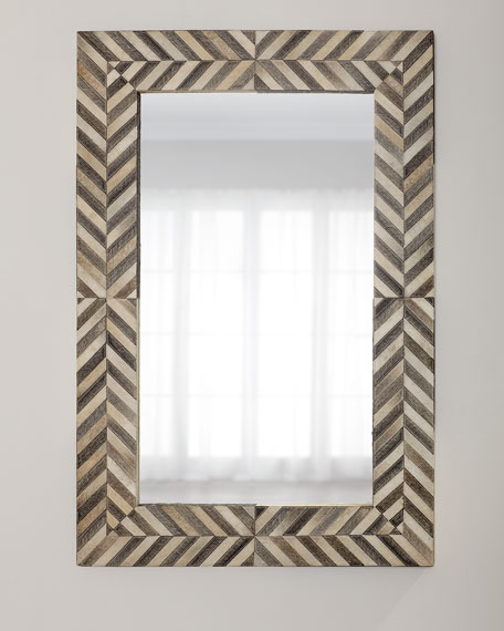 John-Richard Collection Hair on Hide Framed Mirror