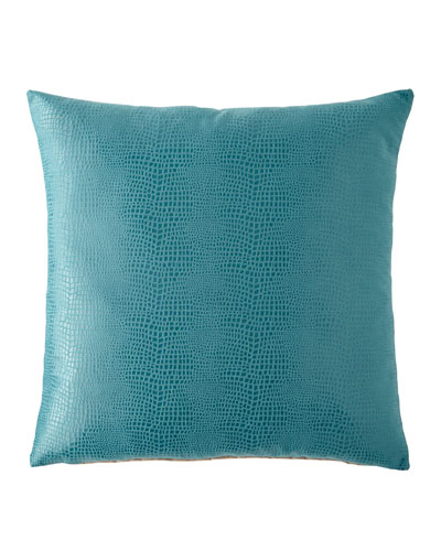 Nagini Teal Decorative Pillow