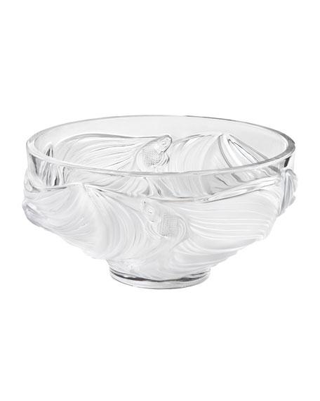 Lalique Poissons Bowl, Clear