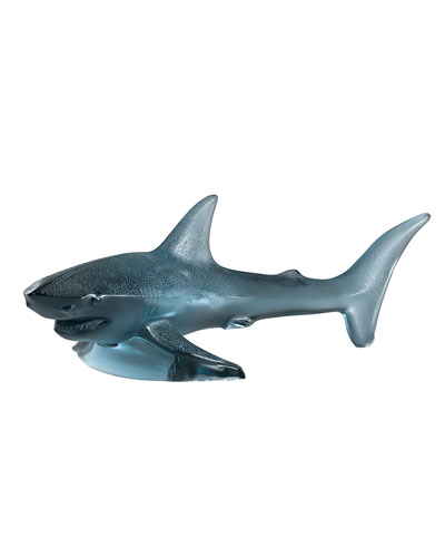 Large Shark Sculpture, Persepolis Blue