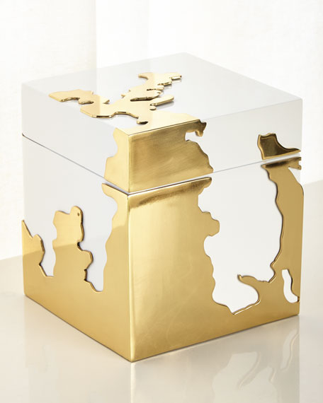 John-Richard Collection Morphed Gold Stainless Steel Box