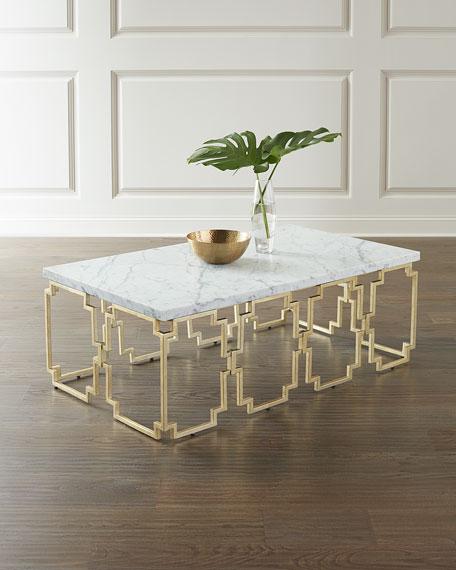 Hooker Furniture Watkins Marble Top Coffee Table