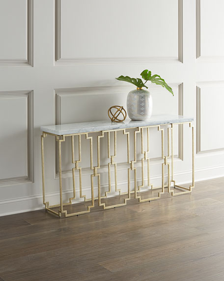 Hooker Furniture Watkins Marble Top Console Table