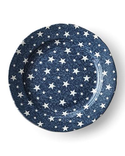 Midnight Sky Salad Plate, Blue