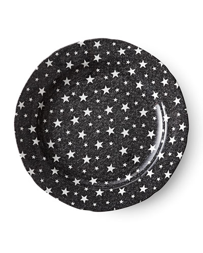Midnight Sky Dinner Plate, Black
