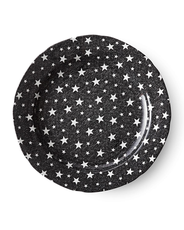 Ralph Lauren Home MIDNIGHT SKY DINNER PLATE, BLACK
