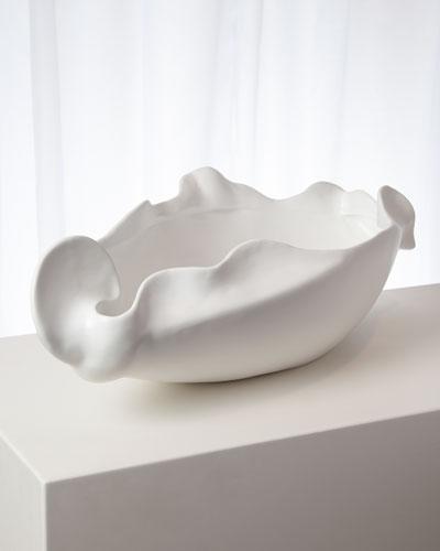 Freeform Matte White Large Bowl