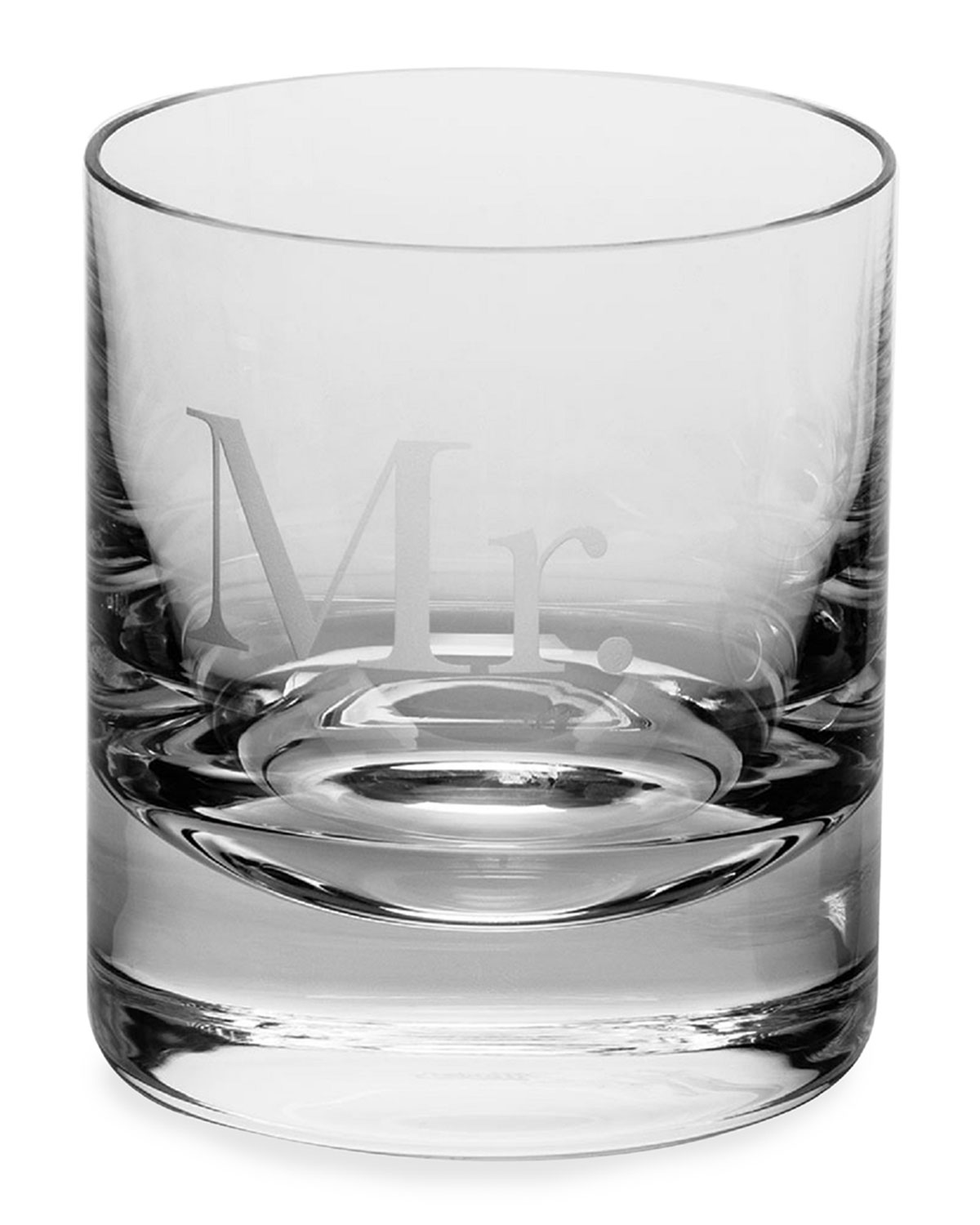 Moser Clothing MR. WHISKEY DOUBLE OLD-FASHIONED GLASS