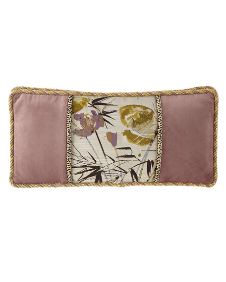 Sweet Dreams Lotus Pieced Oblong Pillow
