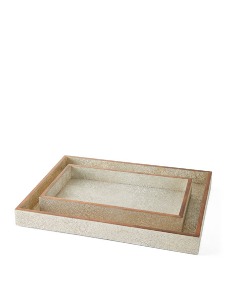 Pigeon and Poodle Manchester Rectangular Trays, Set of 2