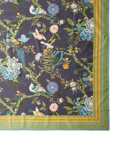 Bird Graphite Tablecloth, 72