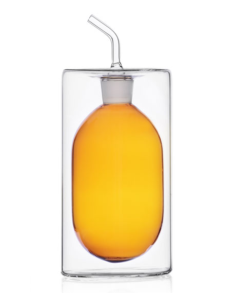 ICHENDORF Cilindro Double Walled Oil Bottle, 250 mL