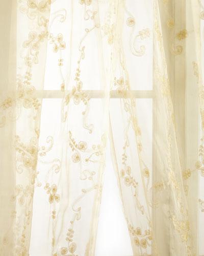 Each Golden Crystal Palace Organza Sheer Curtain, 108