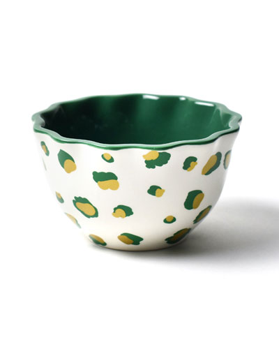 Emerald Double Dot Ruffle Appetizer Bowl