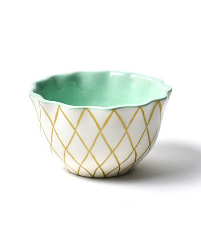 Gold Diamond Ruffle Appetizer Bowl