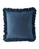 Austin Horn Collection Solid Ruffled European Sham