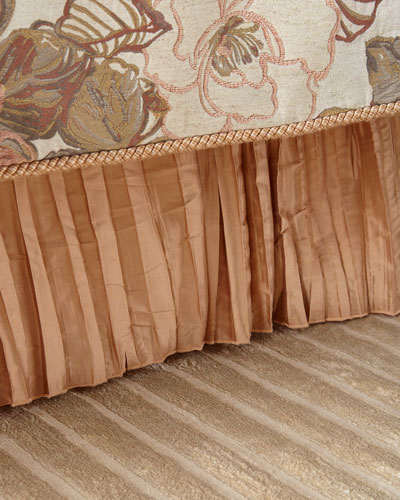 Silk Pleated King Bed Skirt
